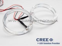 Светодиодные ангельские глазки CREE LED BMW type 90 mm