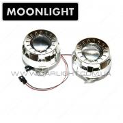 """Биксеноновые линзы Moonlight G5 1.8"""" с масками"""