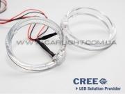 Светодиодные ангельские глазки с поворотом CREE LED BMW type 80 mm